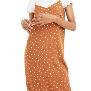 Madewell Inkspot Dots Cami Midi Dress